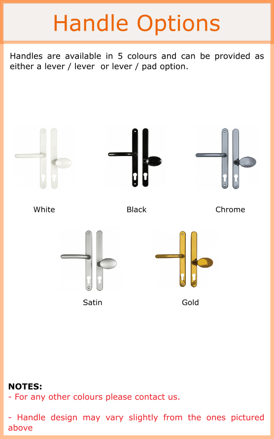 Door handle colour options