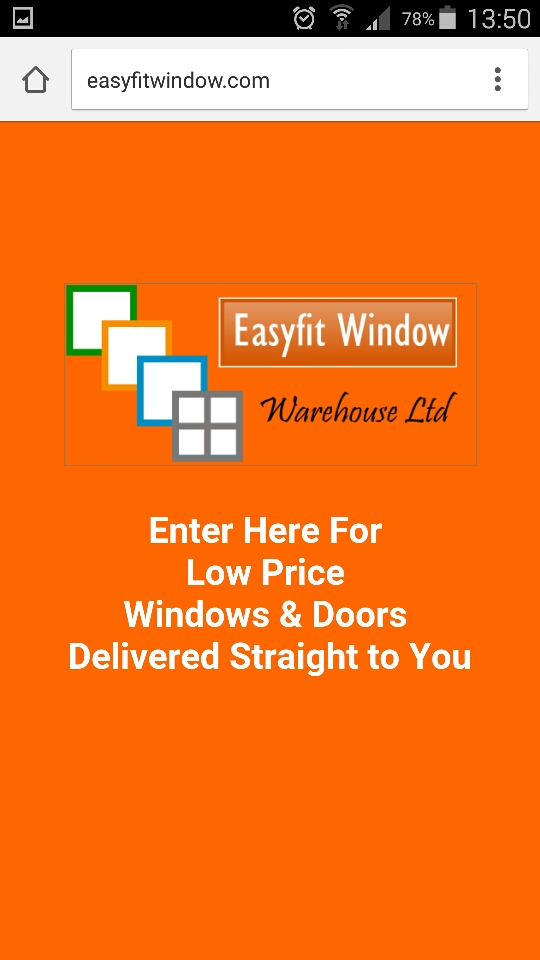 Easyfit Window Mobile Website instructions for Android